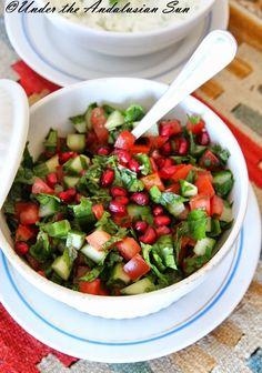 Andalusian auringossa-ruokablogi: Israelilainen salaatti