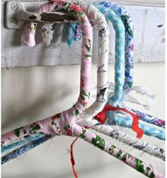 Diy fabric wrap hangers