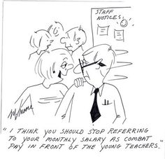 "Educational Cartoon ""Combat Pay..."""