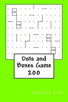 Dots and Boxes Game: 200 Activity Games, Book Activities, Connect The Dots Game, Dots And Boxes, Barnes And Noble Books, Puzzle Books, The Fosters, The 100, Notebooks