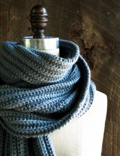 No-Purl Ribbed Scarf | The Purl Bee