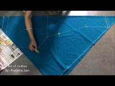 A-Line Umbrella Dress (Single Piece) : 2. Marking and Cutting of the Inner Lining - YouTube