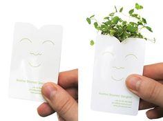 seed packet business card?  via Smashing Magazine