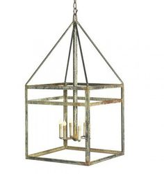 With it's ocean aged iron finish, straight lines, and large scale size the Aged Iron Lantern is sure to be high impact in any space. I recommend this fixture fo