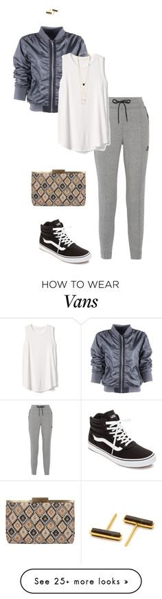 """Untitled #113"" by abmcgrath on Polyvore featuring NIKE, Gap, Vans, Sondra Roberts and Gorjana"