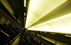 Shinkansen, in a tunnel