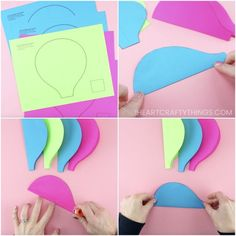 Use our free template to create this gorgeous paper hot air balloon craft. Fun paper craft and summer craft for preschoolers and kids of all ages. Balloon Crafts Preschool, Hot Air Balloon Craft For Kids, Ballon Crafts, Hot Air Balloon Paper, Diy Hot Air Balloons, Paper Bag Crafts, Paper Crafts For Kids, Kid Crafts, Easy Crafts