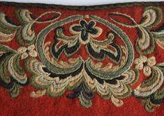 Trøye - Norsk Folkemuseum / DigitaltMuseum Scandinavian Embroidery, Dress Neck Designs, Kurti, Hand Embroidery, Folk Art, Celtic, Needlework, Textiles, Tech