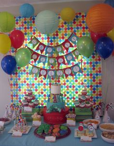 polkadots and puppies: { grant's 1st birthday party! }