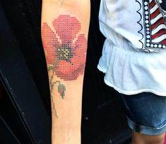 Poppy Flower tattoo by Eva Krbdk