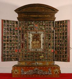 Man of Sorrows reliquary cabinet, Santa Croce, Gerusalemme, Rome