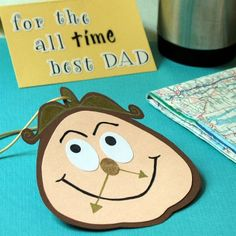 Disney Fathers Day Craft: Cogsworth Air Freshener