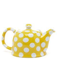 Cheery teapot.