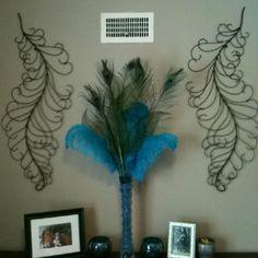 Peacock decorating!