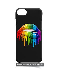 Rainbow Lips iPhone 5 5s 5c 6 6s 7 8 + Plus X Case Cover