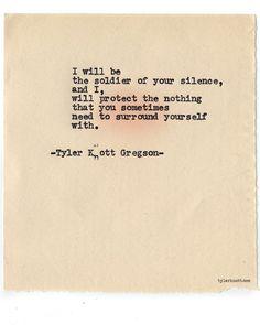Typewriter Series #699byTyler Knott Gregson