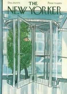 New Yorker 1976- Más portadas en www.adviento.org Adviento, Portadas navideñas y deseos de paz