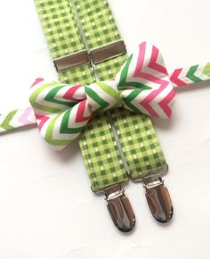 Little Guy Bow tie and Suspender SET for the Holidays and Christmas