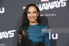 """American dancer, model, and TV host Cheryl Burke (Dancing with the Stars) was spotted wearing Fontaine by Belle Étoile as she arrives to the premiere of Hulu's """"Marvel's Runaways"""" at the Regency Bruin Theatre on November 16, 2017."""