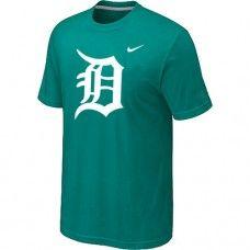 Wholesale Men Detroit Tigers Heathered Blended Short Sleeve Green T-Shirt_Detroit Tigers T-Shirt