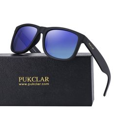 39045bb4d19e PUKCLAR Retro Polarized Wayfarer Sunglasses for Men Women Outdoor UV  Protection Ultra Light pk1004 Wayfarer Sunglasses