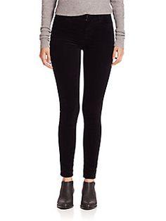 J BRAND - Maria High-Rise Luxe Velveteen Super Skinny Jeans