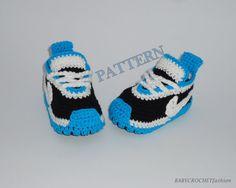 CROCHET PATTERN- Crochet pattern, Baby Sneakers Pattern, Pattern for 0-3 months , Newborn Sneakers Pattern