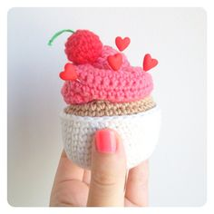 This frosting and cherry-topped cupcake even comes with four sprinkle-like heart pins. $23, etsy.com  - GoodHousekeeping.com