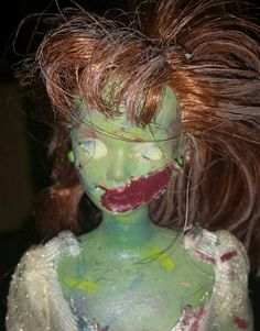 Handcrafted Zombie Barbie Doll by thehorrorden on Etsy