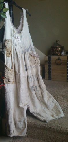 SUPER ULTRA RARE AND AUTHENTIC  MAGNOLIA PEARL PLANTATION GRAIN SACK JUMPSUIT  #MagnoliaPearl #OnePieceJumpSuit