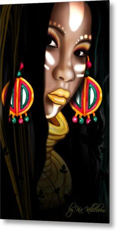 African Princess Metal Print by Kia Kelliebrew. All metal prints are professionally printed, packaged, and shipped within 3 - 4 business days and delivered ready-to-hang on your wall. Choose from multiple sizes and mounting options. Black Love Art, Black Girl Art, Art Girl, Art Afro Au Naturel, Arte Black, Afrique Art, African Princess, Natural Hair Art, Art Africain