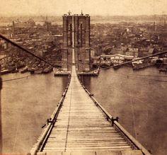 1870s Brooklyn Bridge, NY cityscape    Cool blog, too!