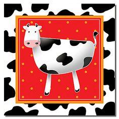 Reproduction transférée sur toile Art bovins laitiers des animaux par Antonella Briozzo - EUR € 20.62
