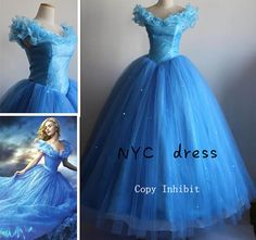 New Custom-made, Cinderella Dress, Cinderella Costume, Cinderella 2015 Cosplay Costume For Girls, Adult from NYCDress on Etsy. Disney Princess Costumes, Disney Costumes, Girl Costumes, Cosplay Costumes, New Cinderella, Cinderella Dresses, Disney Dresses, Cinderella Halloween Costume, Prom Party Dresses