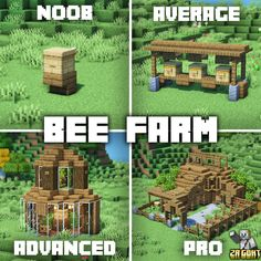 Bee Farm, Minecraft Creations, Art Reference, Texture, Building, Wood, Brain, Instagram, Crafts