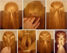 diy hair style diy easy diy diy beauty diy hair diy fashion beauty diy diy style diy hair style by janis Easy Hairstyles For Long Hair, Pretty Hairstyles, Cute Hairstyles, Braided Hairstyles, Style Hairstyle, Short Hairstyle, Braids Step By Step, Natural Hair Styles, Long Hair Styles