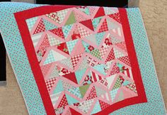 Baby Chevron Quilt in Vintage Modern by thecraftycupboard on Etsy, $80.00
