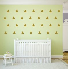 DIY Wall Confetti Dots, Clouds, Triangles, Stars, Hearts 25 - Polka Dot Vinyl Art Wall Decals, Triangle, Clouds, Stars, Hearts, Art 3-4x2-3 by TheVinylCompany on Etsy