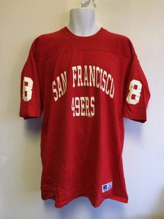 Forty Niners Jersey 1993 Vintage Shirt  Steve Young  8 San Francisco 49ers  Made In Usa Russell Jerse df1eeb32e