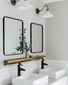 Dreaming of a designer or luxury bathroom? We've gathered together lots of gorgeous bathroom ideas for small or large budgets, including baths, showers, sinks and basins, plus bathroom decor ideas. Black Bathroom Mirrors, Bathroom Mirror Design, Bathroom Layout, Bathroom Styling, Bathroom Faucets, Bathroom Interior, Small Bathroom, Bathroom Lighting, Master Bathrooms