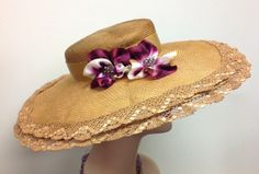 Rich Gold Kentucky Derby Hat with Wide Brim and by WhatAGreatHat, $170.00