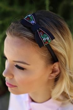 BonBonBijoux / Sweet folklore headband (black)