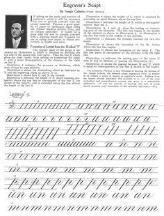 Free lessons in Engraver's script via Joseph Galterio: http://www.zanerian.com/Galterio1.gif
