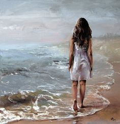 Kai Fine Art is an art website, shows painting and illustration works all over the world. Painting People, Figure Painting, Mode Poster, Frank Dicksee, Edward Hopper, Beach Art, Matisse, Oil Painting On Canvas, Beautiful Paintings