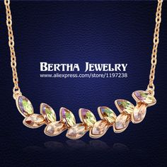 Find More Pendant Necklaces Information about Luxury Choker Necklace For Women With Swarovski Elements Austrian Crystal Colar Jewelry 18K Gold Plated Collares Mujer Best Gift,High Quality necklace goth,China necklace free Suppliers, Cheap choker necklace 2012 from Bertha Jewelry on Aliexpress.com