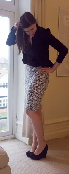 Easy Strech Knit Pencil Skirt Tutorial