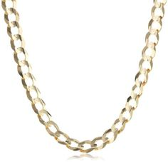 Men's 14k Gold 7mm Cuban Chain Necklace for only $1,485.50 You save: $2,224.50 (60%)