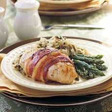 Bacon-Wrapped Chicken V Recipe