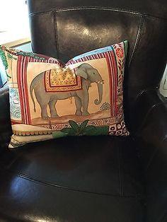 Jane Churchill Limited Indian Summer Cotton; Lee Jofa Shayla Silk Pillow