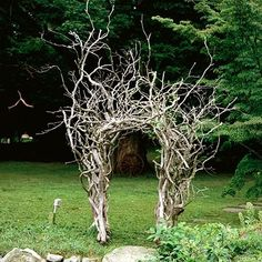 A way to use fallen branches and we always seem to have many!
